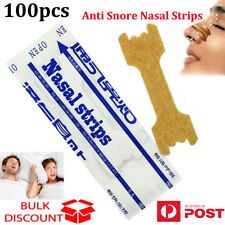 100x Anti Snore Nasal Strips to help Breathe Right Breathe Better Stop Snoring O