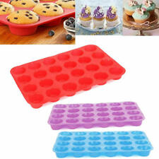 24-Cavity Silicone Muffin CupCake Cookie Chocolate Mould Pan Baking Tray Mold gf