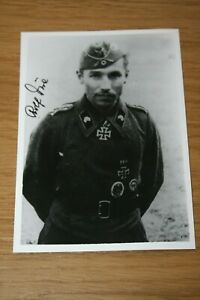WWII German Wehrmacht Panzer Ace Knights Cross Signed Photo - Rolf Due