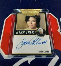 Star Trek TOS Archives & Inscription Joan Collins Black Border Autograph 9 Case