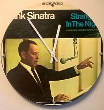 "Frank Sinatra Strangers in the Nightt Album Clock 11.5"" round battery operated"