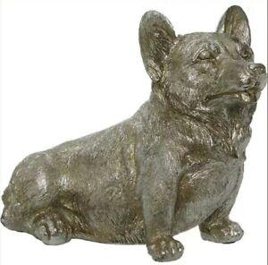 Corgi Dog Decorative Ornament Silver Tone Colour Ideal Gift New