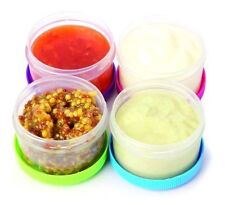 Twist Top Salad Dressing Cups Kitchen Storage Container Pack of 4 Dipping Sauce