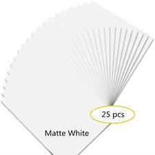 Premium Printable Vinyl Sticker Paper for Your Inkjet Printer - 25 Matte White -