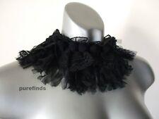 WOLFORD Valencienne Polaina Negro, Cuello De Pulsera De Tobillo Accesorio, par de un tamaño nuevo con etiquetas