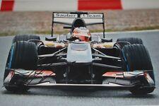 Nico Hulkenberg  SIGNED 12x8, F1 Sauber-Ferrari C32, Jerez Test 2013.