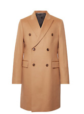 Paul Smith Double-Breasted Cashmere wool blend Coat Camel 40 / medium Mr Porter