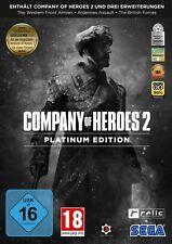 Company of Heroes 2 Platinum Edition inkl Erweiterungen In Hardcase Hülle Neu