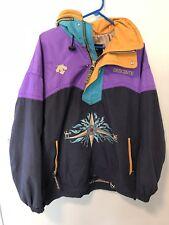 Vtg Descente Embroidered Pullover Hooded Winter Ski Snow Jacket Men's Medium