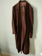 MENS CHRISTIAN DIOR CASHMERE COAT / OVERCOAT IN BROWN DOUBLE BREASTED 42 Regular