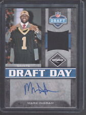 2011 LIMITED NFL DRAFT DAY MARK INGRAM SAINTS AUTO SAWTCH CARD #ED 3/10
