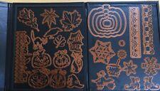 Spellbinder Halloween And Snowflake Dies In A Magnetic Quik Kutz Folder