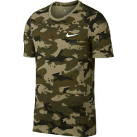 MEN'S NIKE CAMO AOP Dry Tee Dri-FIT T-SHIRT TRAINING OLIVE GREEN-209 XXL