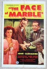 FACE OF MARBLE ORIGINAL 1945 1SHT MOVIE POSTER FLD JOHN CARRADINE VG