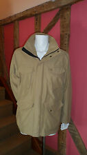 Mens Medium Camel Zip Front Jacket in Cotton Mix by Timberland Brand New