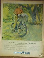 1963 Good Year Eagle Bicycles~Bike Tires Los Angeles Herald Examiner Paper Ad