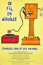 Original Vintage Poster Raymond Savignac De Fil en Aiguille Record Telephone 80s