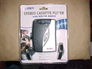 New Jensen SCR-68A Portable Stereo Cassette Player w/ AM&FM Radio & Headphones
