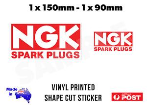 2 x NGK Spark Plugs Vinyl Decal Stickers 2 Sizes - JDM Japan Engine
