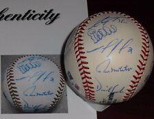2001 Minnesota Twins Team Signed ROML Baseball 20 Sigs Hunter Molitor Kelly PSA