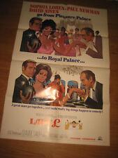 Lady L, Original 1sh Movie Poster sexy Sophia Loren, Paul Newman & David Niven!