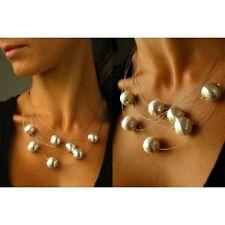 Collier aus versilberten Kugeln, Necklace BALL, Silberverschluss 925, NEU