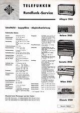 Service Manual-Anleitung Telefunken Allegro 2183,Bolero 2182,Sonata 2183,Wien