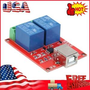 5V 2 Channel Driver-Free USB Smart Control Switch Relay Module for PC