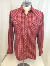 Mens 1960-70's Vintage RANCHWEAR OF CALIFORNIA Pearl Snap WESTERN Shirt L Large