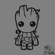 BABY GROOT GUARDIANS OF THE GALAXY Funny Car Window JDM EURO Vinyl Decal Sticker