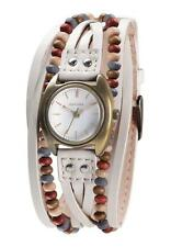 KAHUNA WOMEN'S MULTI-THONG BEIGE WHITE LEATHER STRAP WATCH - KLS0202L - RRP:£40