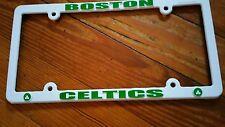 Boston Celtics White PLASTIC License Plate Frame Tag Cover Basketball
