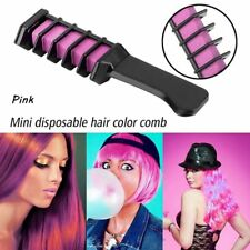 Cosplay Temporary Hair Color Chalk Mini Hair Dye Comb Hair Styling Disposable 1pc Pink