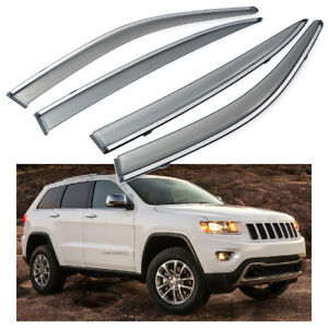 Car Window Visor Vent Shade Deflector Sun/Rain for Jeep Grand Cherokee 2011-2020
