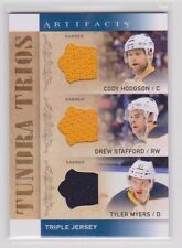 HODGSON STAFFORD MYERS 2014-15 14-15 UD Artifacts Tundra Trios Triple Jersey BUF