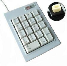 USB 188# White Number Numeric Mechanical Keyboard Keypad w/Backspace