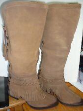 Naughty Monkey Zarape Boots Women's Brown size us 6.5 to 7.5 runs small