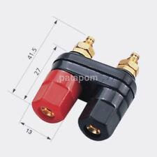 Dual Female Banana Plug Jack Terminal Binding Post for Speaker Amplifier Hot AU