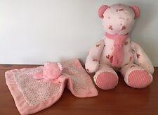 RALPH LAUREN Teddy Bear PLUSH BLANKET $52 TOY INFANT BABY GIRL NURSEY GIFT Polo