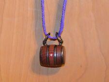 Puppy St. Bernard Wooden Barrel Keg With A Purple Strap And A  Swiss Cross