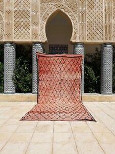 Moroccan rug, Boujaad rug, beni ourain rug, bohemian,Vintage Moroccan Boujad Rug