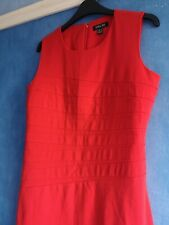 Episode Ladies Red Lined Bodycon  Sleeveless Midi Shift Dress Size 8
