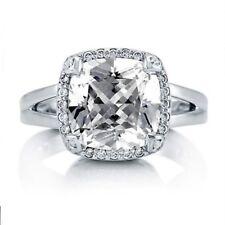 18k White Gold GIA Certified 2.20 CT Cushion Cut Halo Diamond Engagement Ring