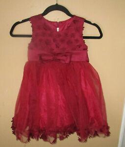 Girls Sz 6 Burgundy Maroon Dress Party Formal Princess Pagent