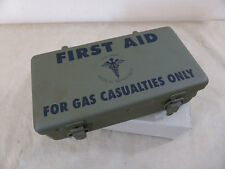 US ARMY First Aid Kit Box for GAS CASUALTIES Verbandkasten Jeep Motor Vehicle