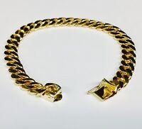 10k Solid Yellow gold Miami Cuban Curb Link mens bracelet 10 38 grams 8MM