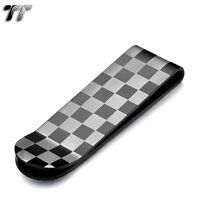 UNIQUE T&T BLACK Stainless Steel Chess MONEY CLIP NEW MC09D