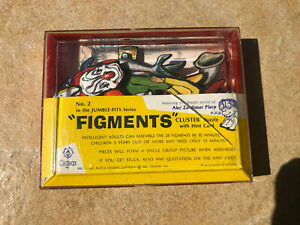 Vintage 1965 CADACO Jumble Fit Cluster Puzzle FIGMENTS w/Hint Card (Missing 1)