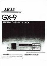 Akai  Bedienungsanleitung user manual owners manual  für GX-9