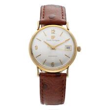 Vintage Girard Perregaux Gyromatic 14K Yellow Gold Leather Classic Men's Watch